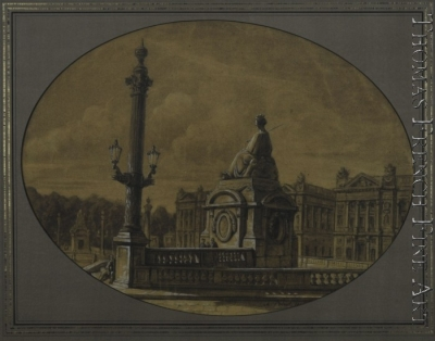 Place de La Concorde, Paris, with the Sculpture
