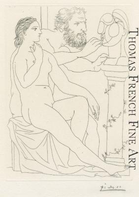 Sculpteur, Modele et Buste sculpte by Pablo Picasso